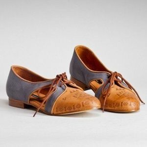 Miista Xenia lace up oxford flats Anthropologie